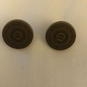 Authentic Chanel Buttons-Made Into Earrings